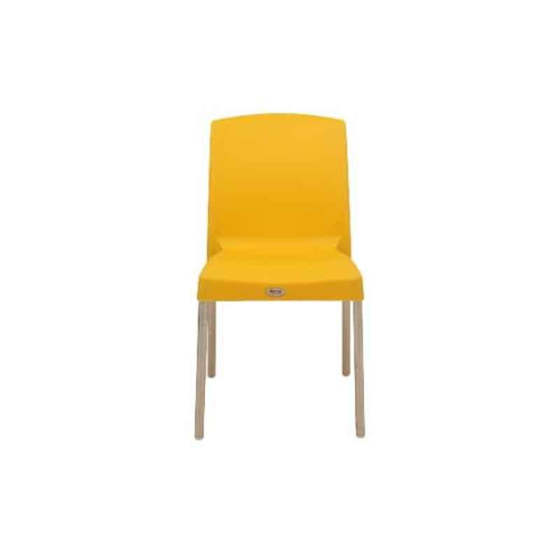 Supreme Hybrid Premium Plastic Yellow Chair without Arm (Pack of 4)