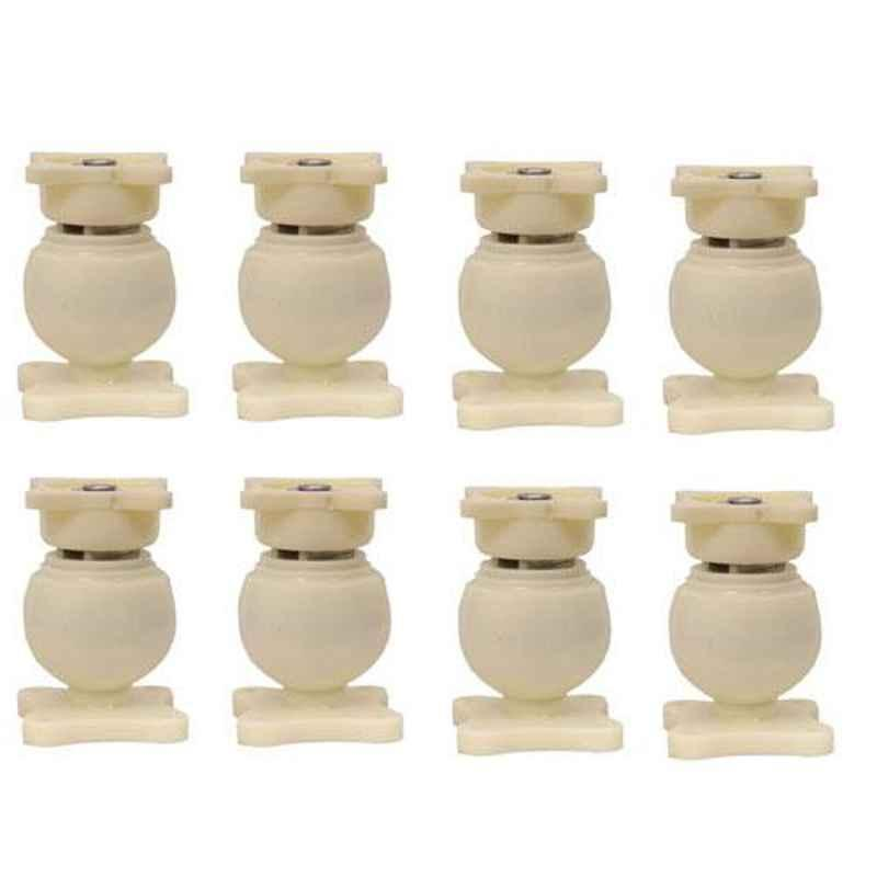 Nixnine Plastic Ivory Magnetic Door Stopper, NO-6_IVR_8PS_A (Pack of 8)