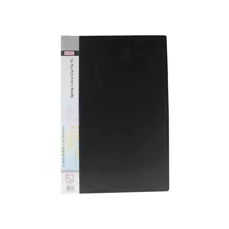 Saya SY103F Black Spring Cobra F/C Clip File, Weight: 175 g (Pack of 20)