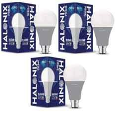 Halonix Prime Radar 10W B22 Cool Day White Motion Sensor LED Bulb, HLNX-RDR-10WB22CW (Pack of 3)