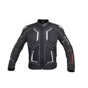 Biking Brotherhood Leather Collar with Soft Neoprene Inner Spiti Jacket, Size: 2XL