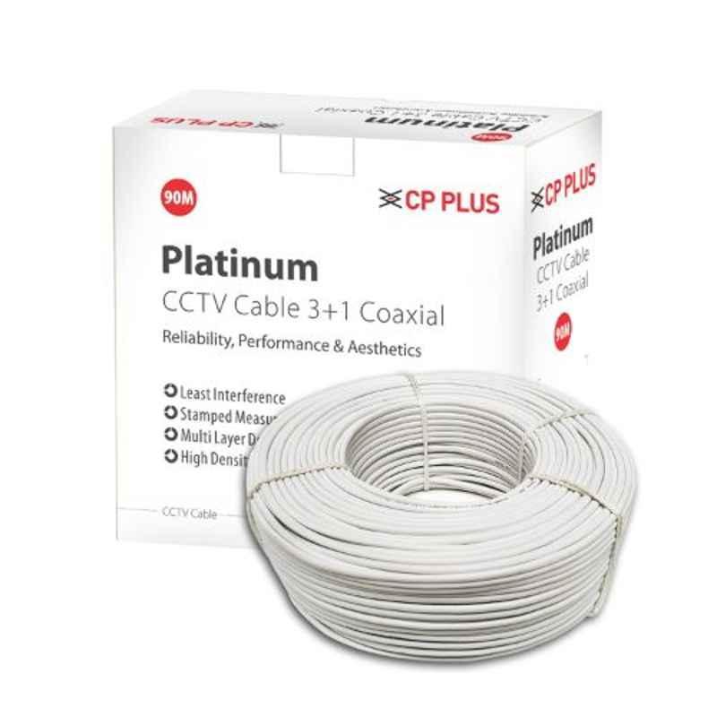 CP Plus Platinum 90m Copper 3 Plus 1 CCTV Cable, CP-ECC-90R-V1