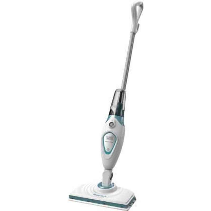Black+Decker 1300W 5kg White & Blue Steam Mop, FSM1605