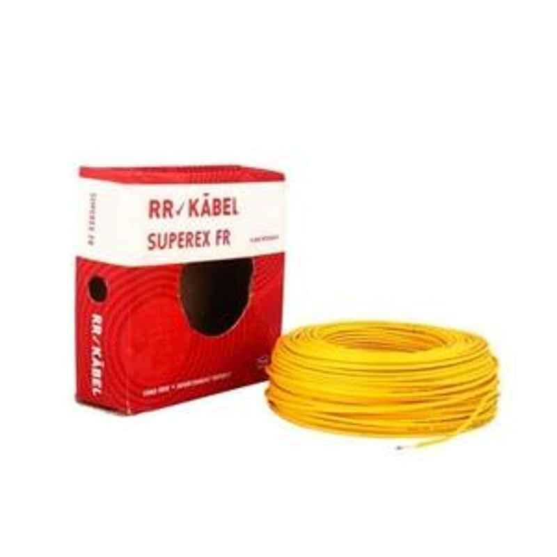 RR Kabel 10 Sqmm Length 100 m FR PVC Insulated Cable Yellow