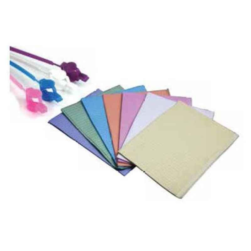 Oro PB-005 3 Ply Soft Tissue & Poly White Patient Bib
