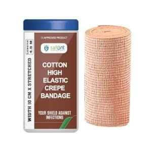 Safent 4 inch 10cmx4.5m Cotton High Elastic Crepe Bandages, SAFE0059