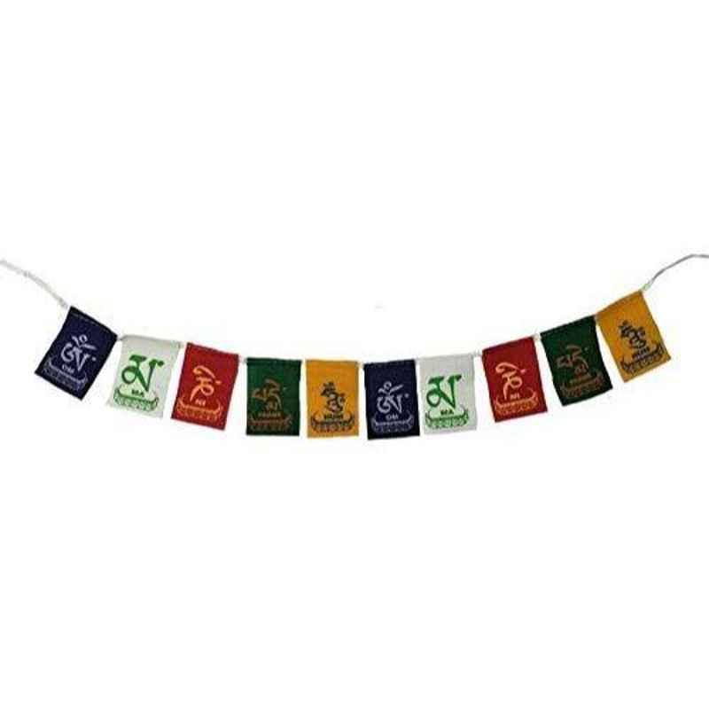 A4S 2ft Multicolor Tibetan Small Buddhist Prayer Flag for All Bikes