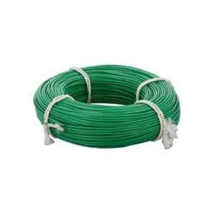 KEI 0.5 Sqmm Single Core FR Green Copper Unsheathed Flexible Cable, Length: 100 m