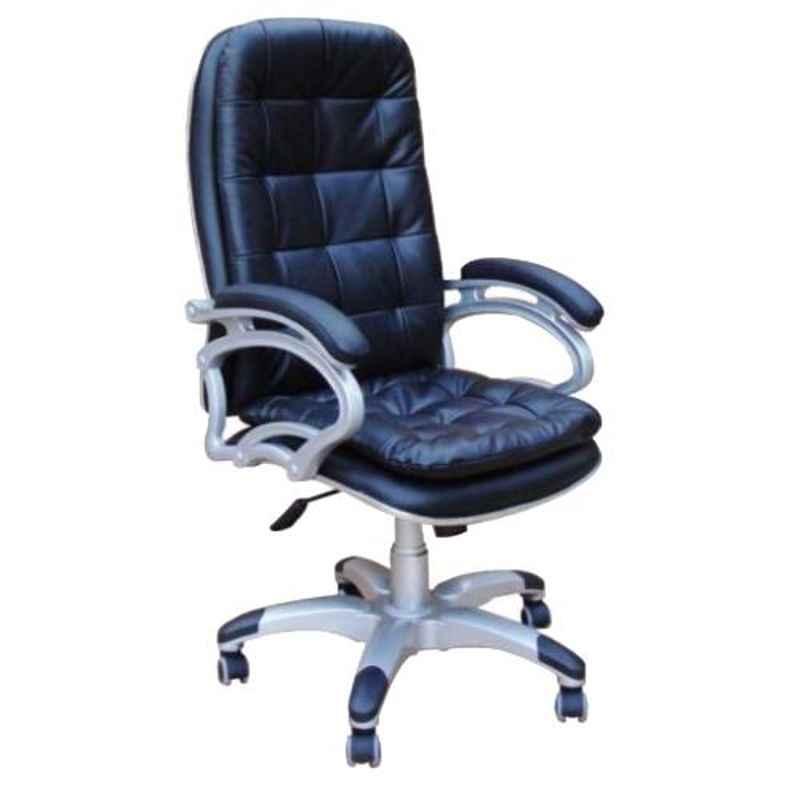 Arko Black Medium Steel High Back Adjustable Central Tilt Executive Chair, ARK-CH-012