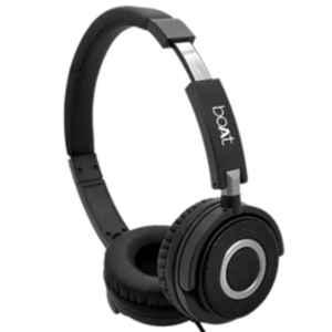 boAt Bassheads 910 Black Wired Headset with Mic