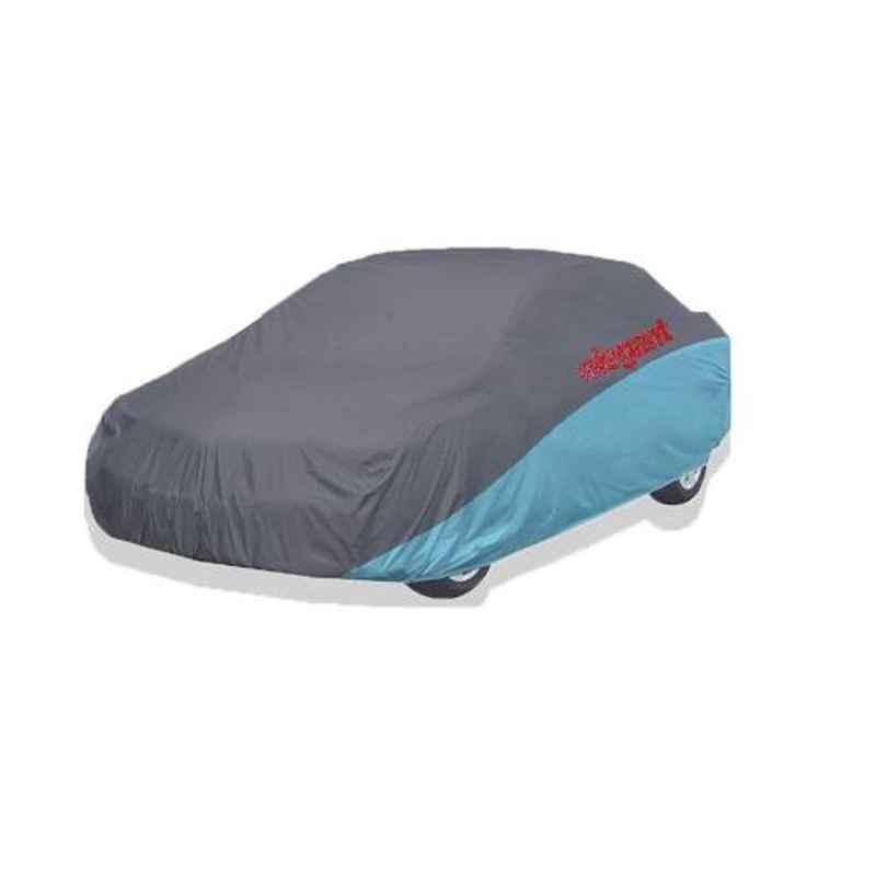 Elegant Grey & Blue Water Resistant Car Body Cover for Tata Manza