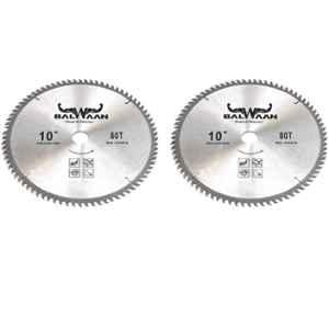 Balwaan 80 Teeth Carbon Steel Silver TCT Blade for Brush Cutter, MTAK-AC-BR-939-2 (Pack of 2)
