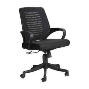VJ Interior Costilla Polypropylene & Upholstery Net Fabric Black MB Task Chair, VJ-406