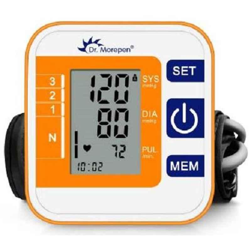 Dr. Morepen BP-14 Orange & White Fully Automatic Blood Pressure Monitor
