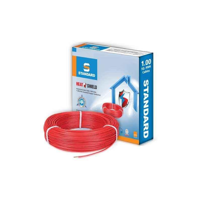 Standard 4 Sqmm 180m Red PVC FR Industrial Cables by Havells, WSFFDNRA14X0