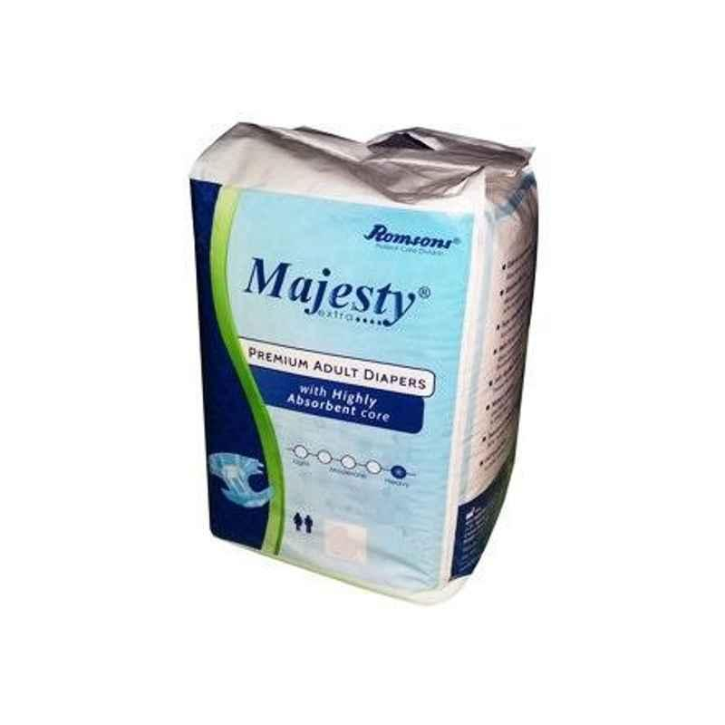 Romsons Majesty Large Adult Diaper, GS-8420-10 (Pack of 10)