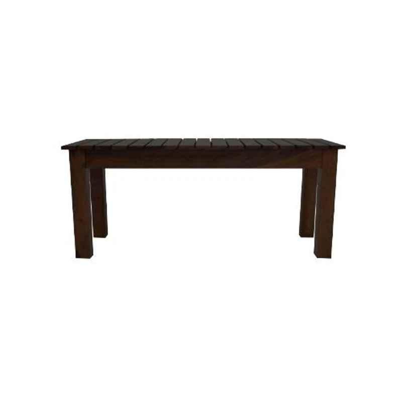 Angel Furniture 42x16x18 Inch Walnut Finish Solid Sheesham Wood Stripped Bench Table, AF109W