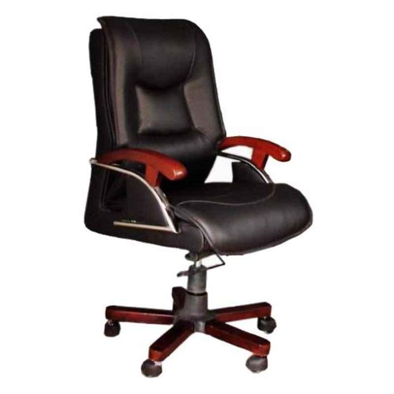 Arko Black Medium Steel High Back Adjustable Torsion Bar Executive Chair, B1 Black