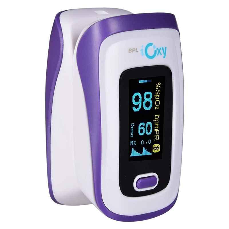 BPL iOxy White Finger Tip Pulse Oximeter with Bluetooth