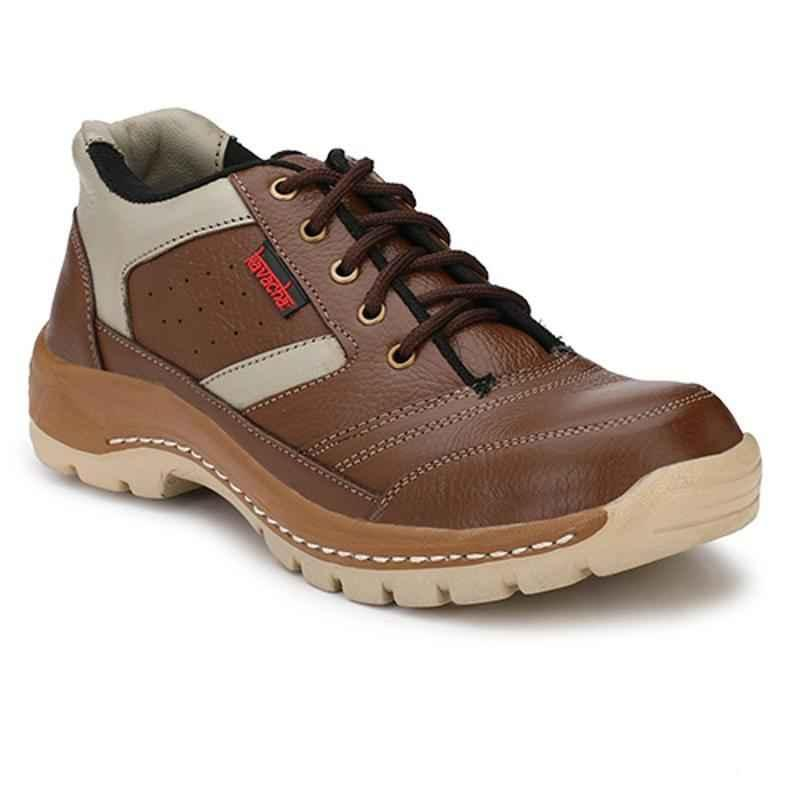 Kavacha S46 Steel Toe Brown Safety Shoes, Size: 9