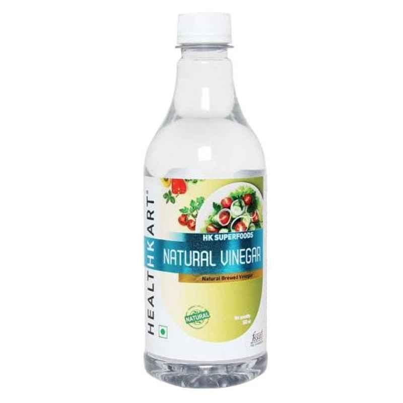 Healthkart 0.5L Natural White Unflavoured Vinegar, HNUT9634-01