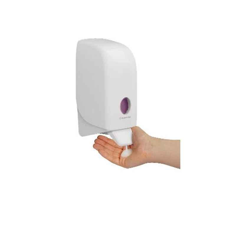 Kimberly Clark Aquarius Wall Mounted Skincare Dispenser, Compatible with Kimberly Clark Soap & Sanitizer Cassette, 69480