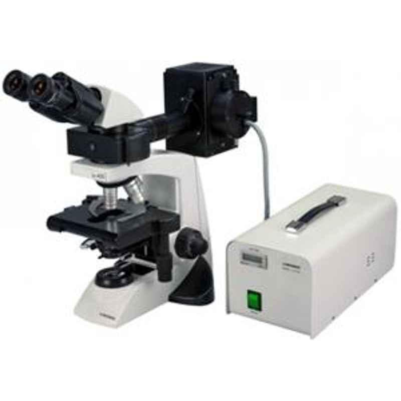 Labomed LX-400 Binocular Fluorescence Compound Microscope, illumination - FLR (e LED)- Single Blue LED illumination.