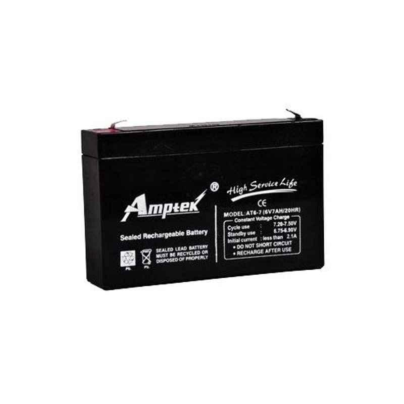 Amptek 6V 7Ah Rechargeable SLA UPS Battery