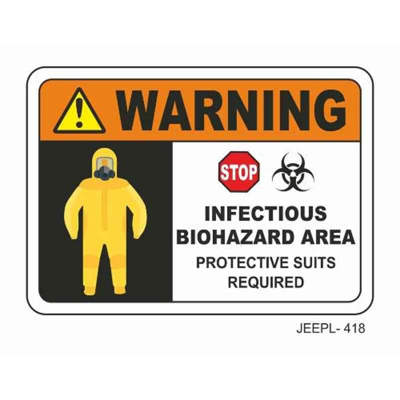 Jeepl Warning Infectious Blohazard Sticker, jeepl-418