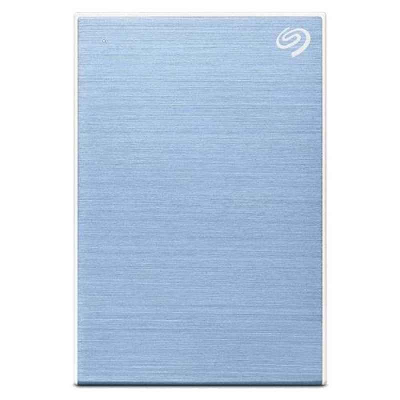 Seagate 2TB USB 3.0 Slim Portable Backup Plus Light Blue External Hard Disk Drive for PC, Laptop & Mac, STHN200402
