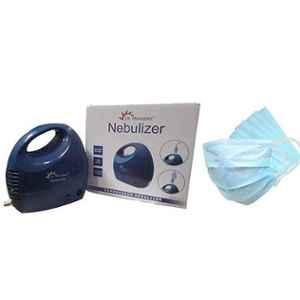 Dr. Morepen CN-10 Blue Compressor Nebulizer with Free 50Pcs 3 Ply Face Mask