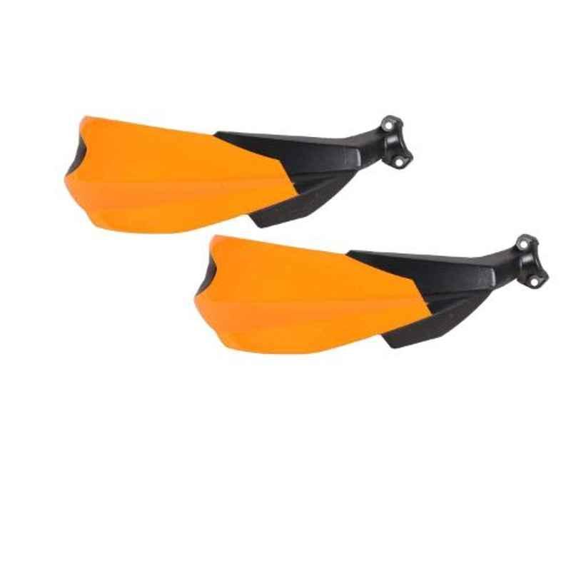 AllExtreme EXHGDO1 Orange Handlebar Handguard Finger Brush Wind Protector