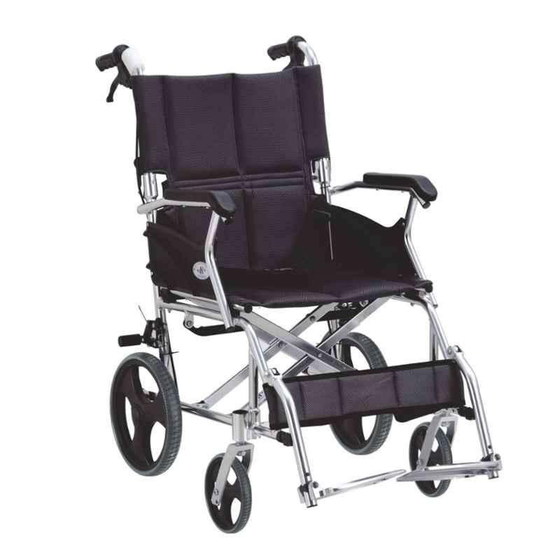 Easycare Portable Aluminum Wheelchair, Weighing Capacity: 75 kg, EC863LABJA12