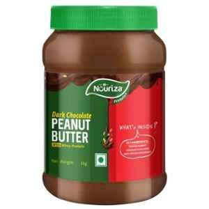 Nouriza 1kg Dark Chocolate Peanut Butter Spread with Whey Protein, HNUT12795-03
