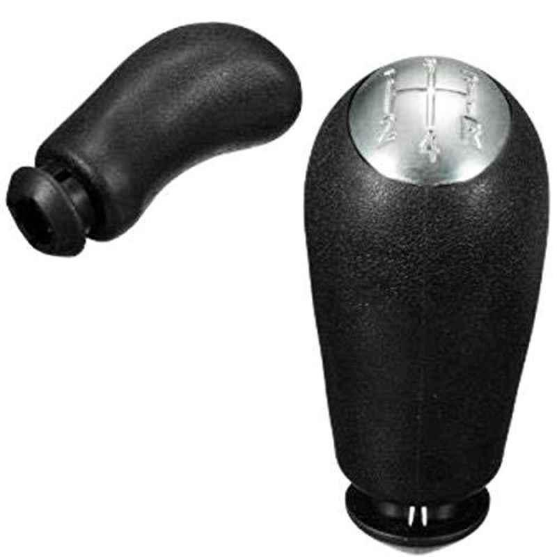 Lootera Black Gear Shift Knob for Renault Duster, Logan, Nissan Terrano & Mahindra Verito