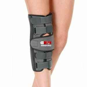 Nipm Surgical Large Long Type Grey Knee Brace, KS-0601L