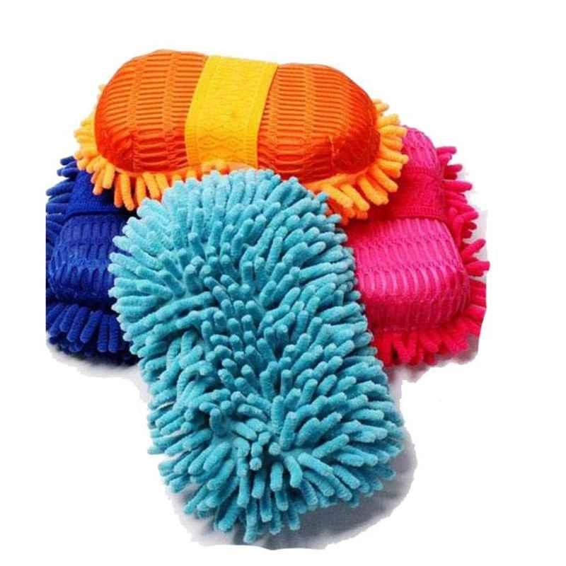 Love4ride Microfiber Car Wash Cloth Sponge Hand Gloves for Dashboard Cleaning (Pack of 2)