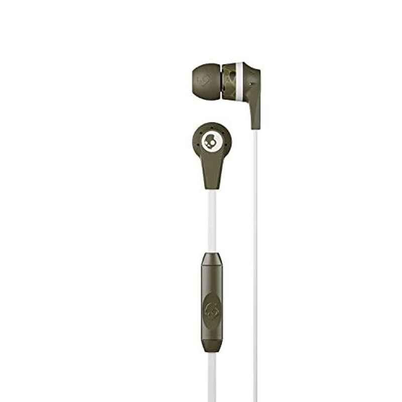 Skullcandy Ink'd Army Green Wired in-Earphone with Mic, S2IKDY-L094