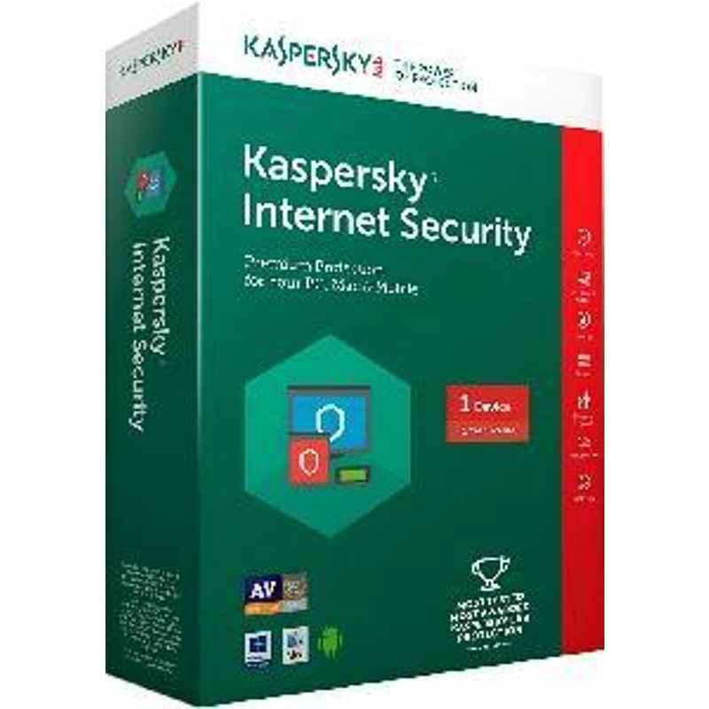 Kaspersky Internet Security 1PC 1Year For Laptops & Desktops Software