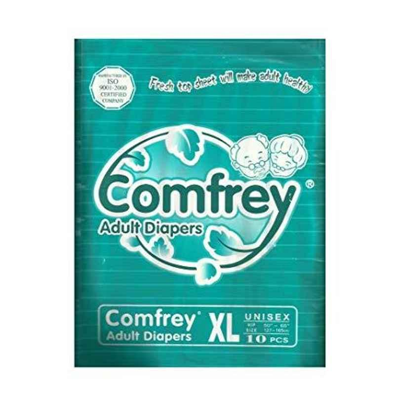 Comfrey 10 Pcs Extra Large Adult Diaper (Pack of 3)