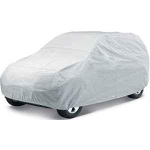 Love4Ride Silver Car Cover for Hyundai Santro Xing