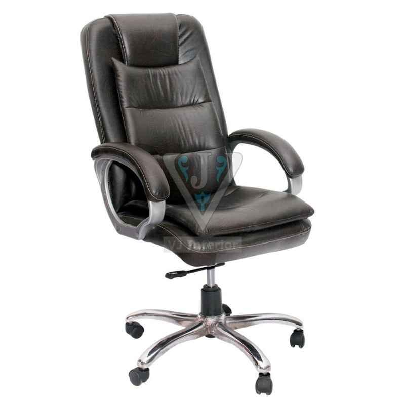 VJ Interior 21 inch 20 kg Leather Extra Cushion Executive Chair, VJ-314