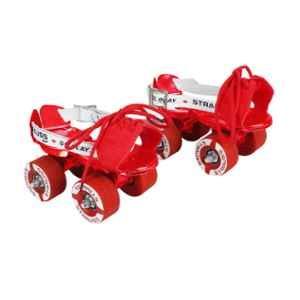 Strauss 18-21cm Mild Steel Red Tenacity Roller Skates, ST-2436