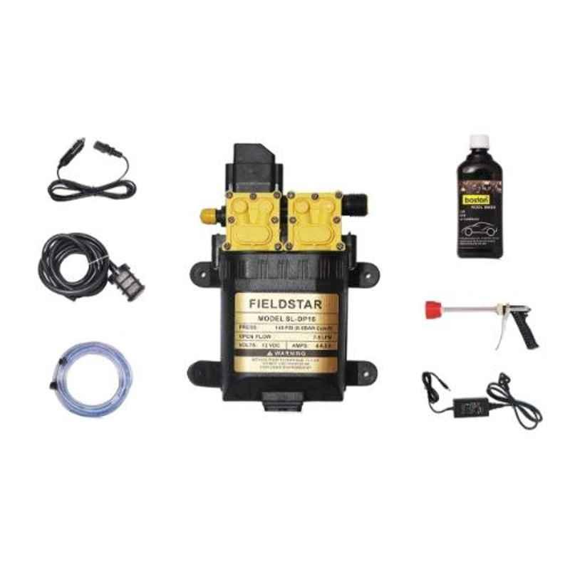 Fieldstar Boston SL-DP-16 Black High Pressure Car Wash Kit, 9890