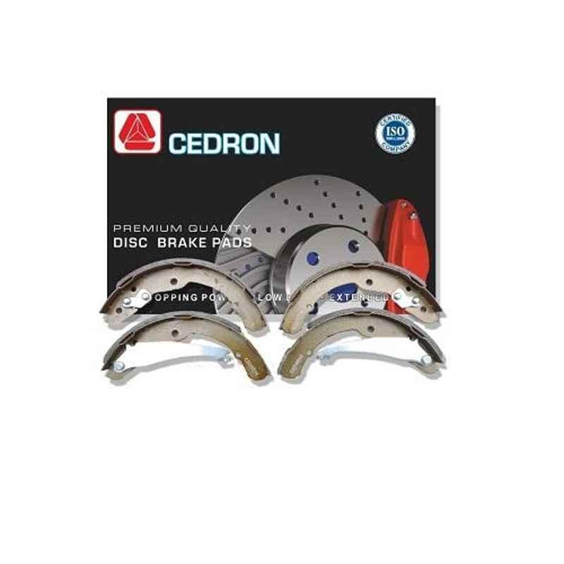 Cedron 4 Pcs L.S-103K Rear Brake Shoes Set for Maruti Suzuki 1000CC & Esteem Type 1 KBX Type, 53210M70C20