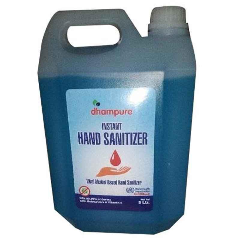 Dhampure 5L 80% Alcohol Based Instant Liquid Hand Sanitizer