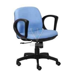 VJ Interior 18x18x16 inch Light Blue Crepe Fabric executive Chair, VJ-1025