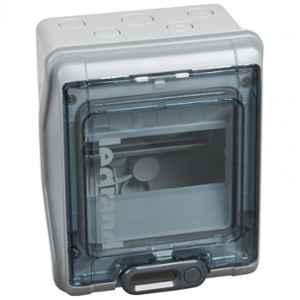 Legrand PLEXO³ 6 Modules Single Row IP65 Weatherproof Cabinet, 6019 96