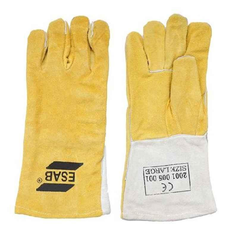 ESAB Large Leather Welding Hand Gloves, 2001005001 (Pack of 10)