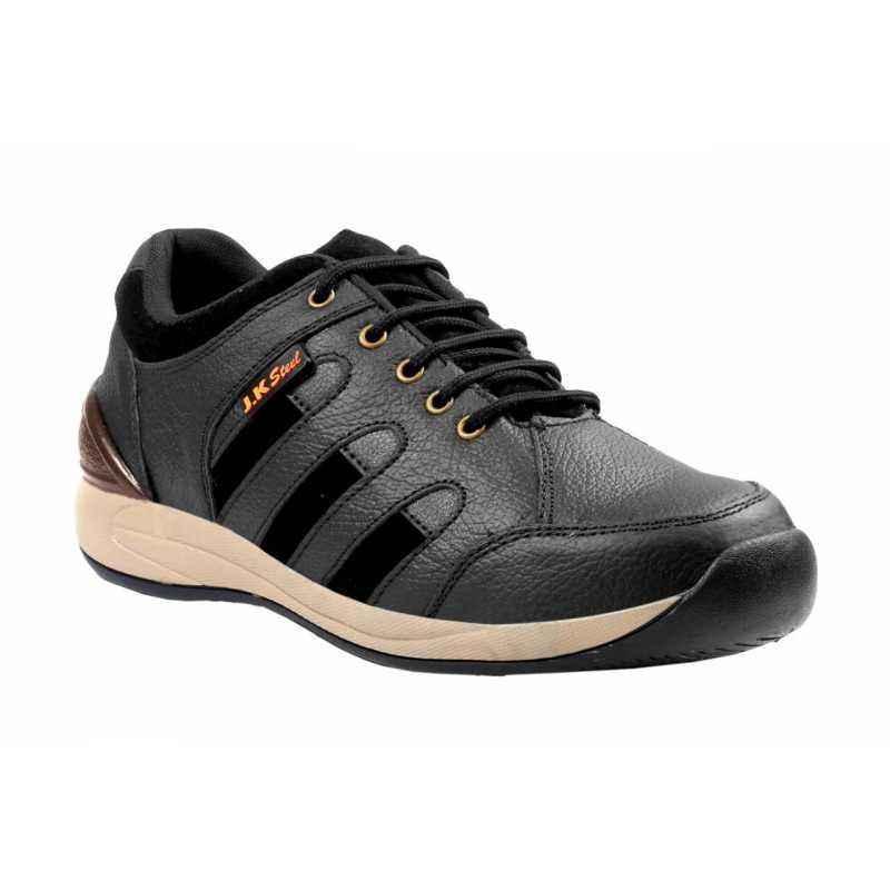 JK Steel JKPI003BK Steel Toe Safety Shoes, Size: 10